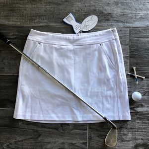 Greg Norman White Golf Skirt